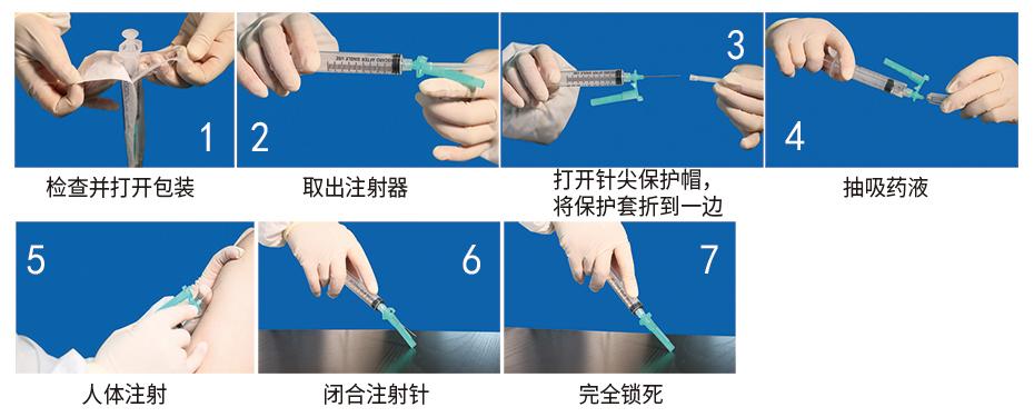 自毁式注射器操作步骤